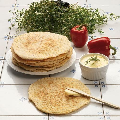 Brödet bakas i stekpanna och smakar bäst nygräddat.
