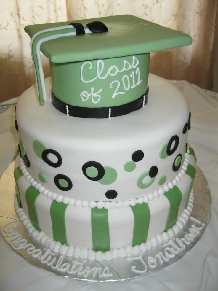 Graduation Cake Three Tiers Two Were Chocolate Cake