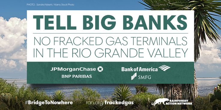 Tell Banks: No Fracked Gas Dirty Deal in the Rio Grande Valley - Rainforest Action Network