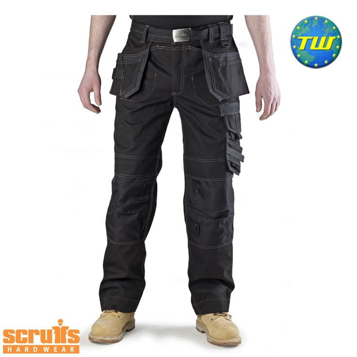 http://www.twwholesale.co.uk/product.php/section/10256/sn/Scruffs-Trousers-T51112 Scruffs Pro Trousers black are highly versatile work trousers made from water and wind resistant cotton and polyamide fibres.