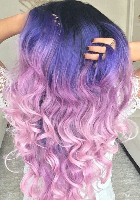 two tone purple dyed hair color