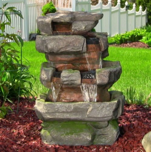 17 best ideas about rock fountain on pinterest diy water for Build outdoor rock water fountains