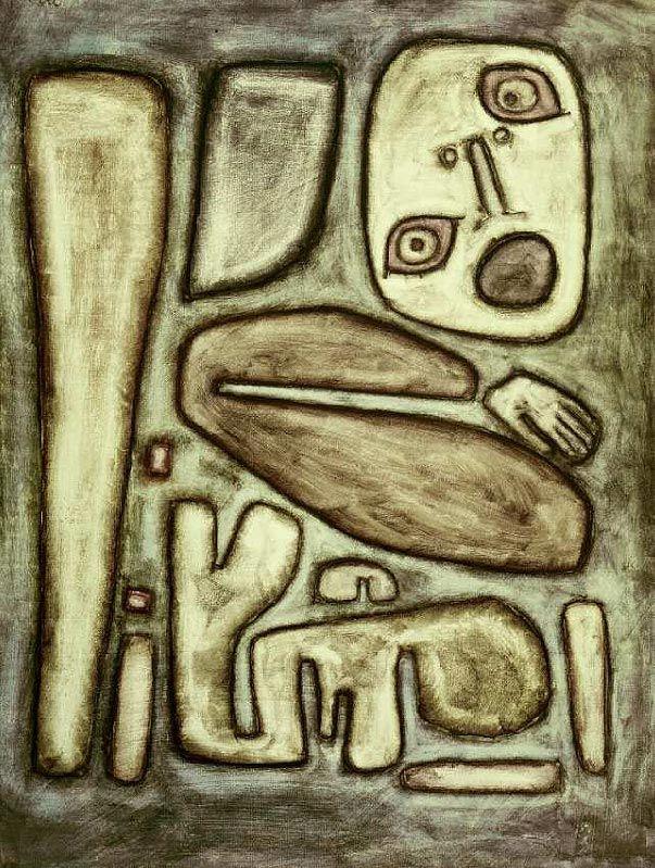 Paul Klee. Scoppio della paura III. 1939, 124