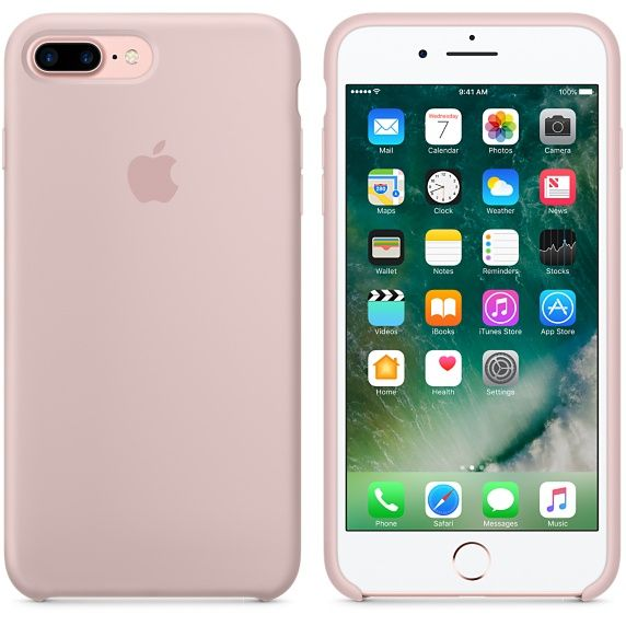 iPhone 7 Plus Silicone Case - Pink Sand - Apple