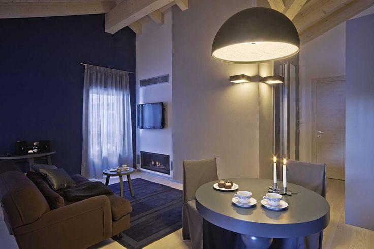 Camera London, hotel di charme Villa Klofer Wonderland Resort a Campitello di Fassa. #trentinocharme