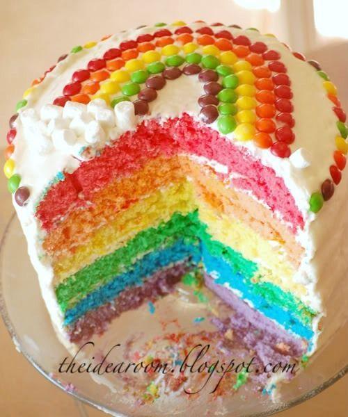 Rainbow Layer Cake via Amy Huntley (The Idea Room)