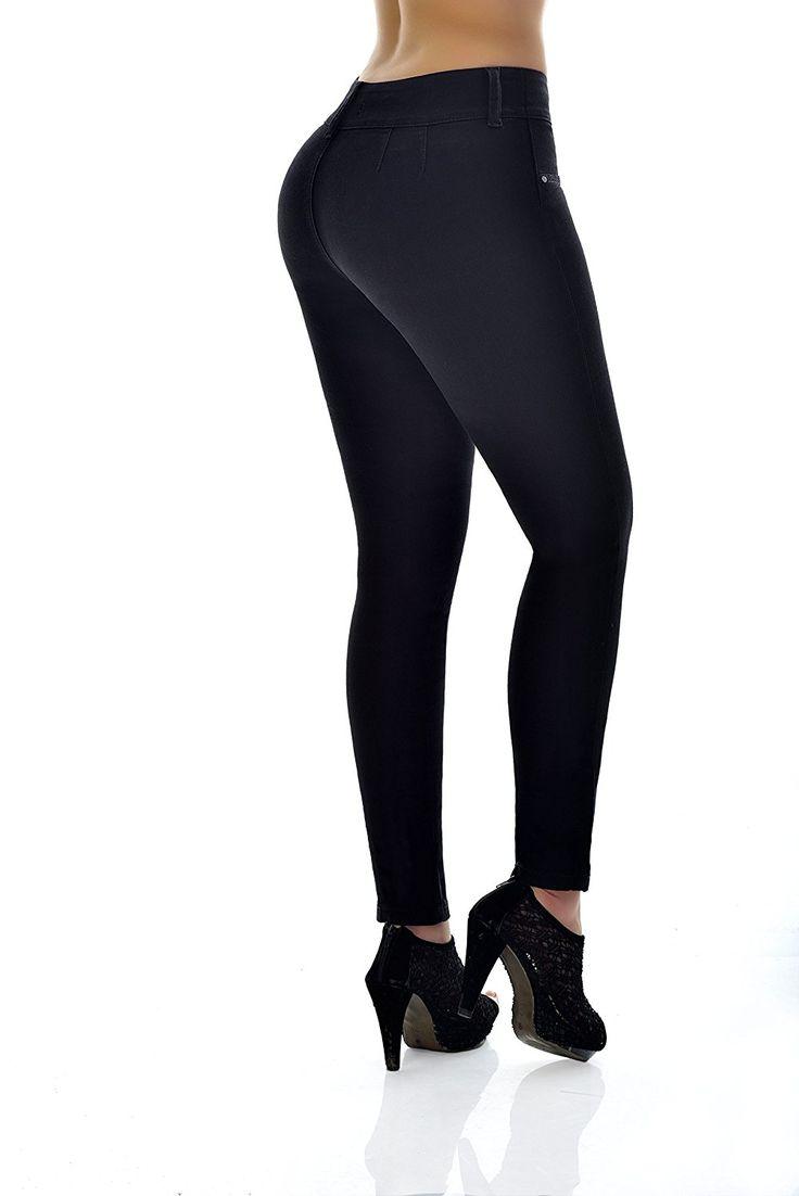 "Curvify Butt Lifting Wonder Jean with Secret Internal Waist Cincher (5 for 39"" to 40"" hips, Jet Black)"