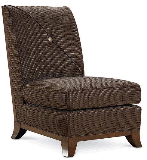 Кресло Coast без подлокотников. Наполнитель: пух. Высота сиденья 46 см.             Метки: Кресла для дома, Кресло для отдыха.              Материал: Ткань, Дерево.              Бренд: Schnadig.              Стили: Классика и неоклассика.              Цвета: Коричневый, Темно-коричневый.