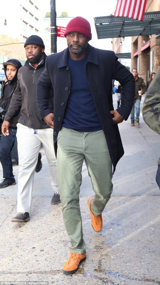 Laid back: Idris Elba cut a casual figure as he stepped out in New York City on Wednesday ...