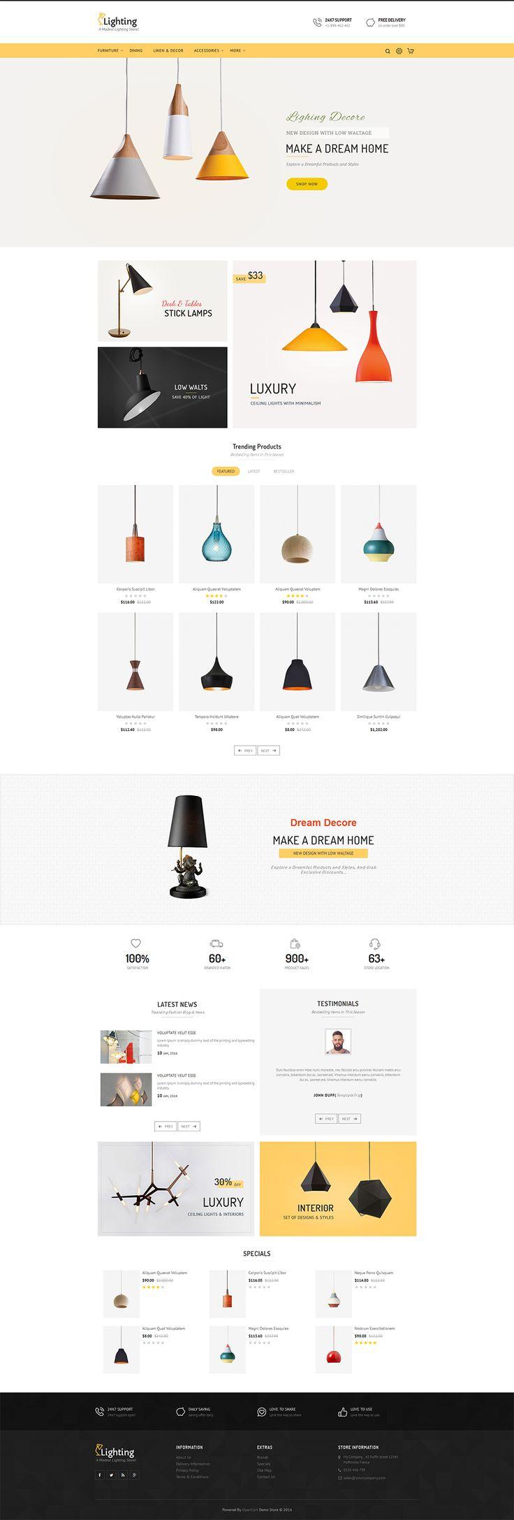 #Lighting #Decor #Crafts - #eCommerce #Modern - #Opencart Multi Purpose #Responsive #Theme
