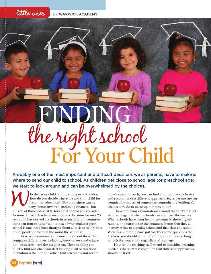 Have you chosen the right school for your child? #BermudaParentMagazine
