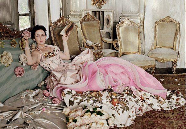 Emily Blunt in Vanity Fair, by Michael Roberts #victorian