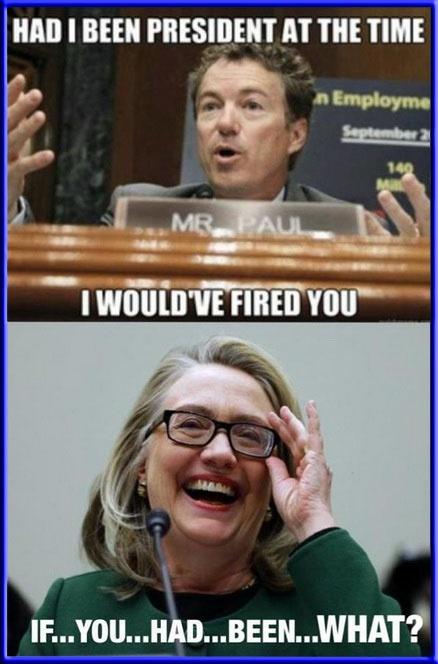 Political Memes: Hillary Clinton Meme: Owning Rand Paul