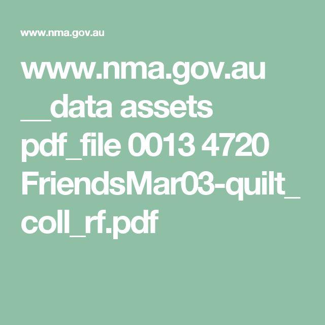 www.nma.gov.au __data assets pdf_file 0013 4720 FriendsMar03-quilt_coll_rf.pdf