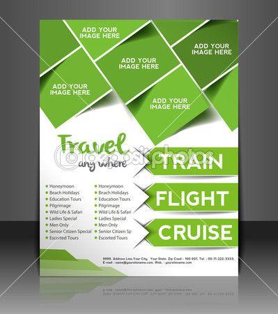 vettoriale viaggio brochure centro, flyer, copertine di riviste e poster modello — Illustrazione vettoriale #28152799