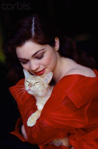 Valerie Bertinelli Holding Cat