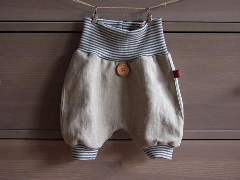 Pumphosen - Leichte kurze Hose aus Leinen für den Sommer - ein Designerstück von KleinesMuckelchen bei DaWanda