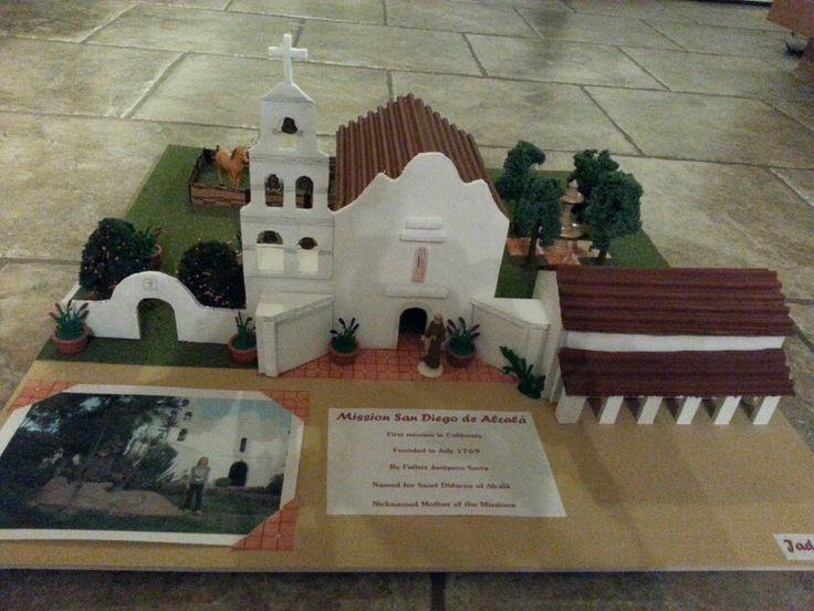 California's 4th grade mission project - Mission San Diego de Alcala