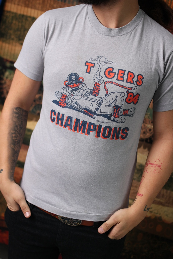 Vintage detroit tigers championship shirt 1984 by vintagevanshop 35 00 this shirt is awesome