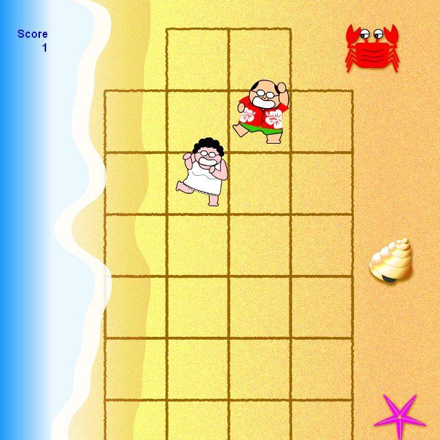 『海辺でおいかけっこ』 リア充カップルの象徴的光景ですケド、中々お目にかかれないのは何故? (^^;