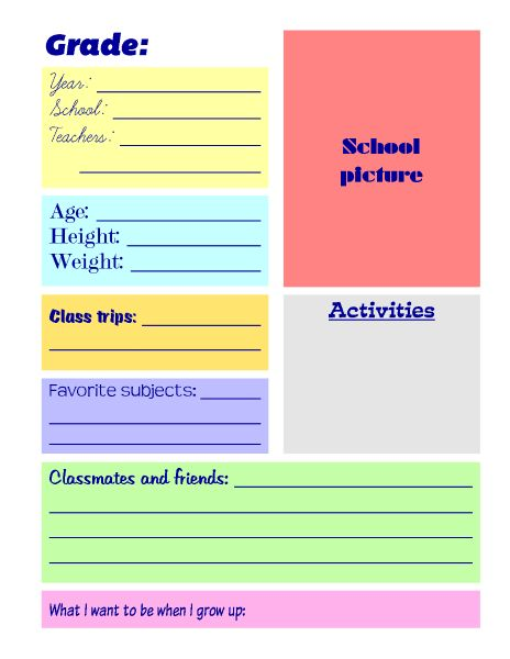 Lucrative image within free printable memory book templates