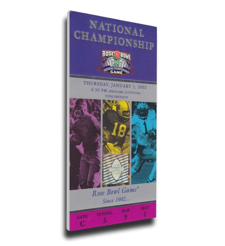 Miami Hurricanes Wall Art - 2002 Rose Bowl/BCS National Championship Game Canvas Mega Ticket