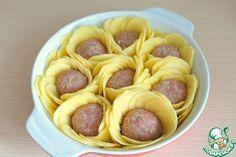 Картофельные розы с мясными шариками. Обсуждение на LiveInternet - Российский Сервис Онлайн-Дневников