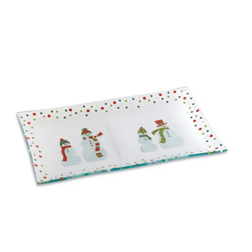 Snowmen Dots Divided Platter - The Pampered Chef™