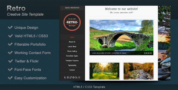 Retro - HTML5 Template  #themeforest