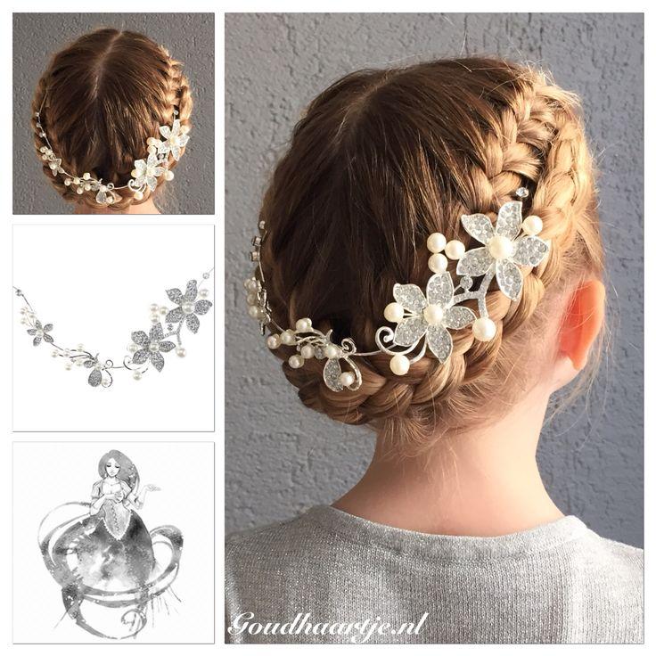 French braided updo with a beautiful hairaccessorie from Goudhaartje.nl  #updo #hairstyle #braid #hair #frenchbraid #beautifulhair #haaraccessoires #bridalhair #bride #bridesmaid #opgestoken #haarstijl #vlecht #haar #invlecht #mooihaar #haaraccessoires #bruidshaar #mooihaar #eleganthair #bruid #bruidskapsel #goudhaartje