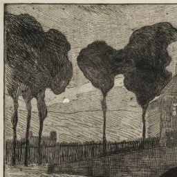 Maxime Maufra, CLAIR DE LUNE ou VUE DE PAIMPOL, 1893. Etching.