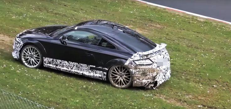 Cars - Audi TT RS : un prototype se sort au Nürburgring (vidéo) - http://lesvoitures.fr/audi-tt-rs-un-prototype-se-sort-au-nurburgring-video/