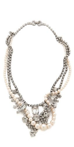 Tangled pearls & gorgeous crystals. J'adore!