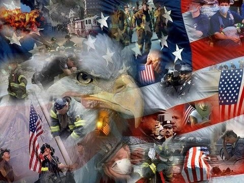 A collage of honor and rememberance for the victims of September 11, 2001. May we Never Forget.
