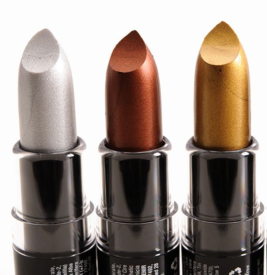 NYX Stone Cold, Wrath, Mischievous Wicked Lippies Reviews, Photos, Swatches