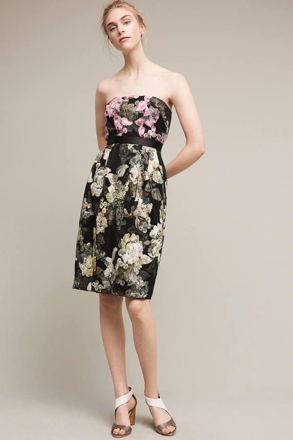ML Monique Lhuillier Strapless Gala Dress