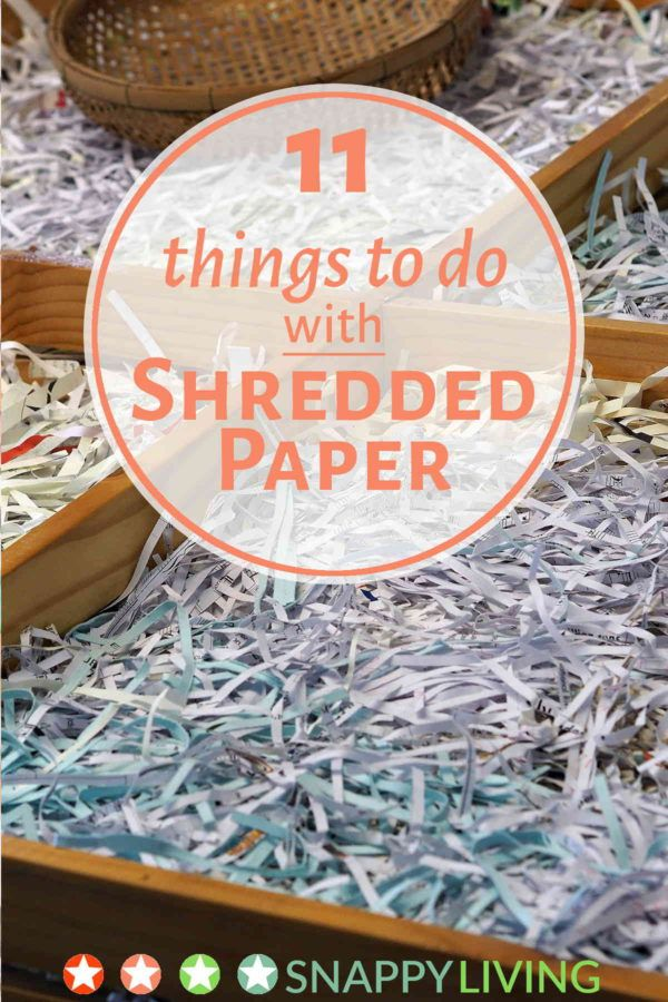 11 uses for shredded paper top pins from top bloggers shredded paper paper shredder diy paper. Black Bedroom Furniture Sets. Home Design Ideas