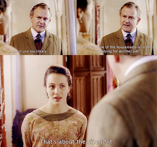 I loved this scene :) I was so happy for Gwen. And Sybil is so cool. True story.
