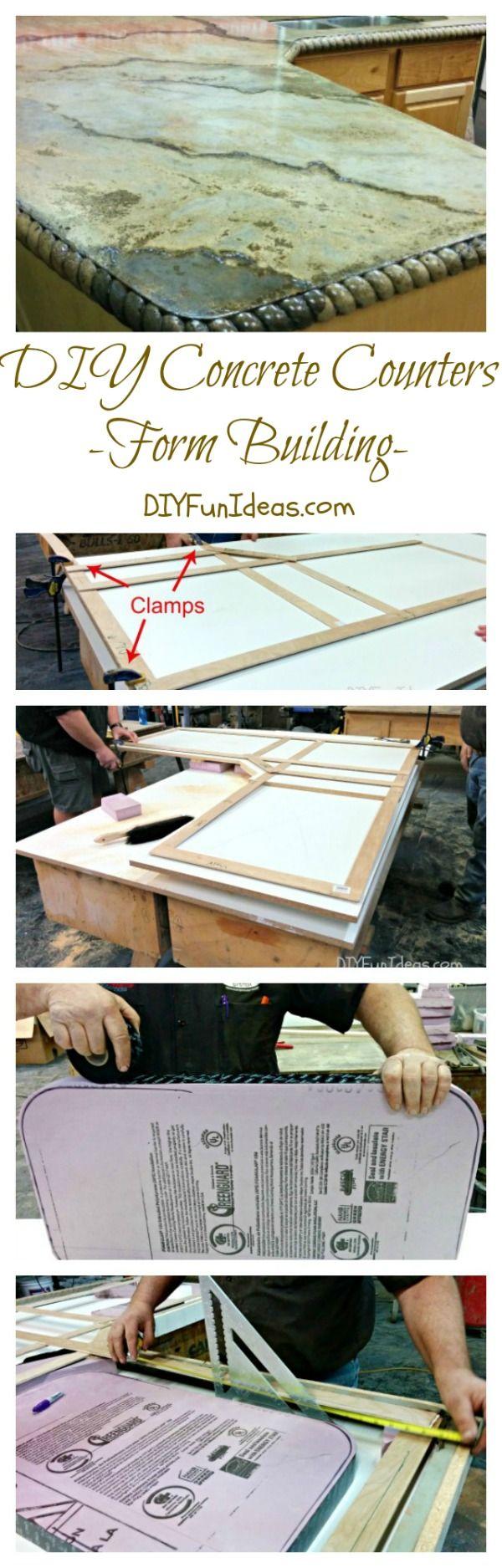 DIY CONCRETE COUNTERS - FORM BUILDING