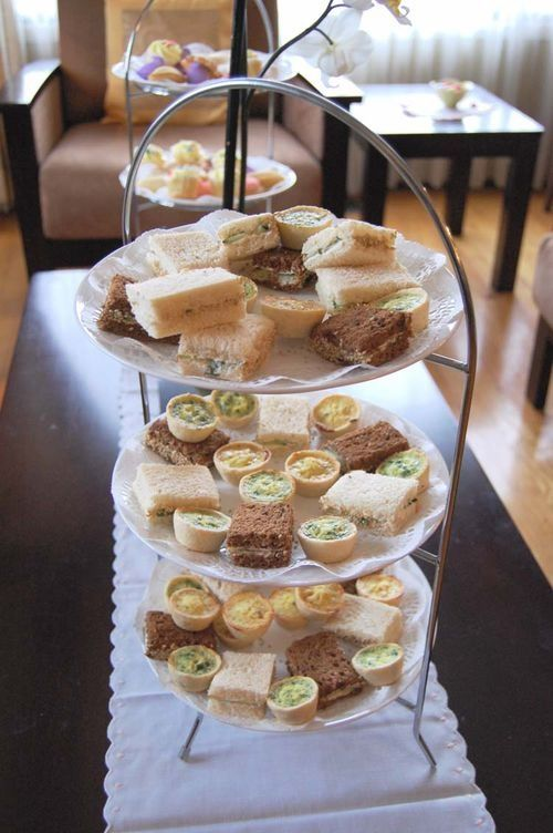 Afternoon tea tray