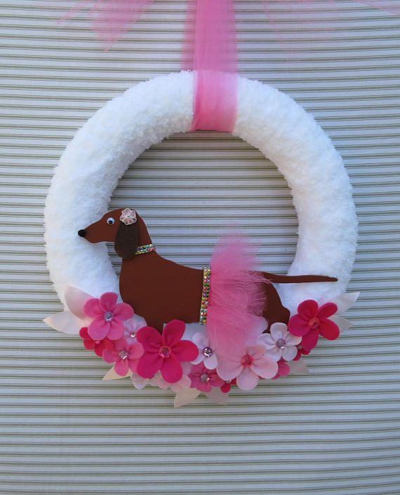 Dachshund Wreath Weiner Dog Wreath Dog Wreath Puppy Wreath