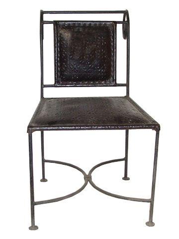Dezaro-iron leather design baby chair