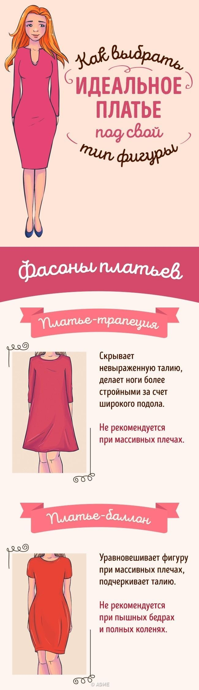 Как выбрать идеальное платье по типу фигуры