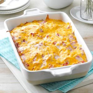 """Fire Cracker Casserole - (contest winner) Someone wrote, """"I loved this Southwestern-style casserole when my mother made it years ago. Now my husband enjoys it when I prepare it. The flavor reminds us of enchiladas, but this handy recipe doesn't require the extra time to roll them up."""""""