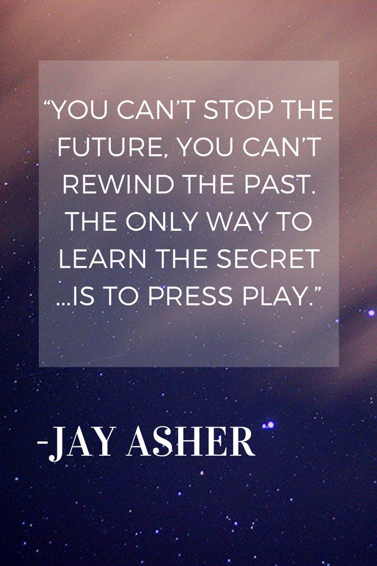 13 reasons why we can all learn something from the latest netflix series, (previously a book) one of the moving quotes from the series here by Jay Asher
