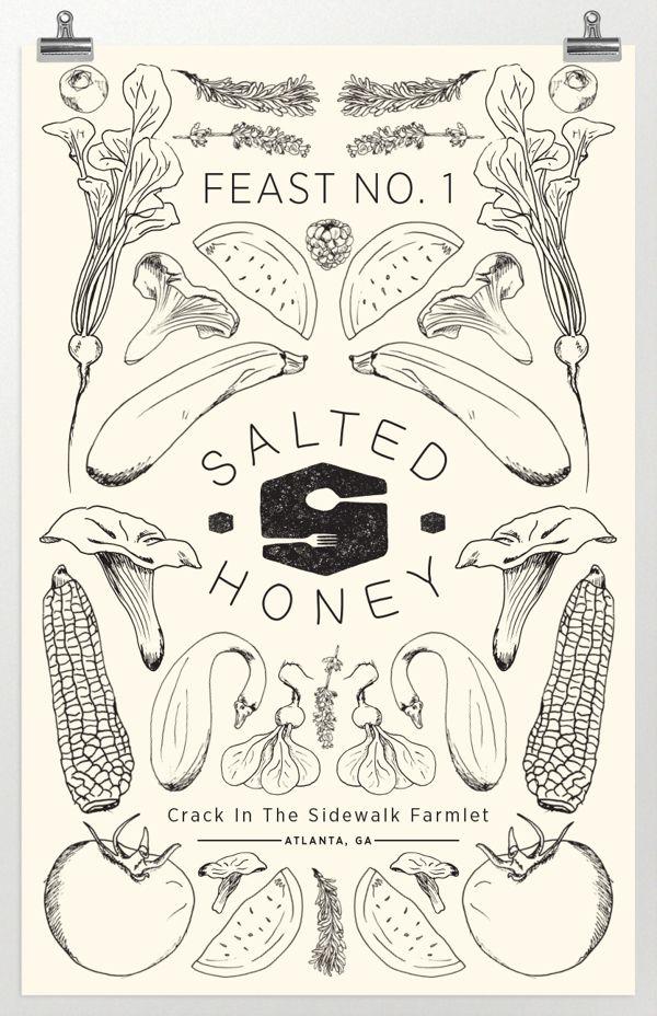 Salted Honey by Hannah Barganier, via Behance