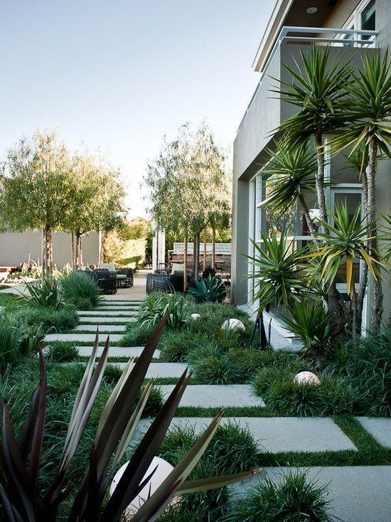 MTLA - C. Residence - modern - exterior - los angeles - MTLA- Mark Tessier Landscape Architecture - pavers