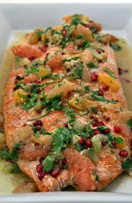 Salmon with Pink Peppercorn Sauce