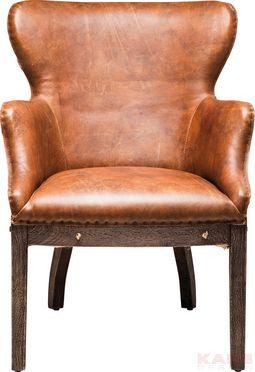 Padded Chair with Armrest Whiskey
