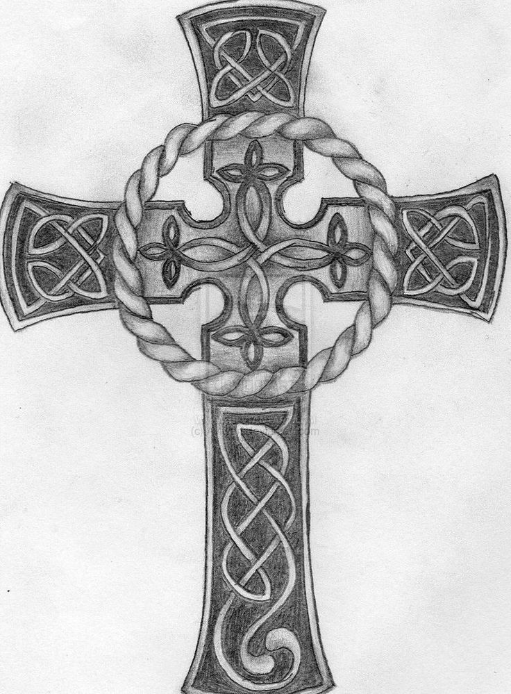 Cross Tattoos | Celtic cross tattoo by ~Aylwen on deviantART